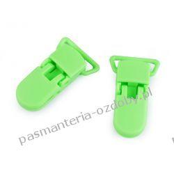 Zapięcie do szelek - klips - szerokość 20 mm - zielony