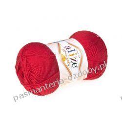 Włóczka Alize Cotton Baby Soft - 100g - czerwona (56)