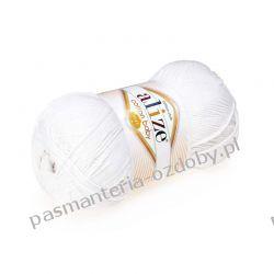 Włóczka Alize Cotton Baby Soft - 100g - biała (55)
