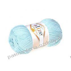 Włóczka Alize Cotton Baby Soft - 100g - jasny turkusowy (335) Akrylowe