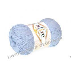 Włóczka Alize Cotton Baby Soft - 100g - jasny błękit (480) Nici