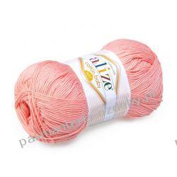 Włóczka Alize Cotton Baby Soft - 100g - łososiowy (145) Crackle