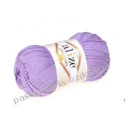 Włóczka Alize Cotton Baby Soft - 100g - liliowy (547) Crackle