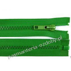 Zamek błyskawiczny kostkowy 5mm dł. 65cm - zielony Włóczki