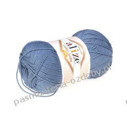 Włóczka Alize Cotton Baby Soft - 100g - niebieski (374) Pozostałe