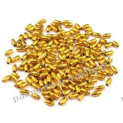 PEREŁKI I KORALIKI RYŻ 3x6mm -opk 5g (ok 140 szt) - złoty Pozostałe