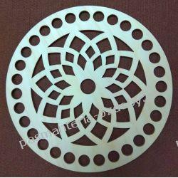BAZA DO KOSZYKA / TOREBKI wzór średnica 20 cm , otwory 13mm Szklane zwykłe