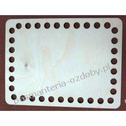 BAZA DO KOSZYKA / TOREBKI pełna  wymiary 15x20 cm , otwory 10mm Akrylowe