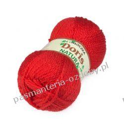 Włóczka Doris - 100g - jasny czerwony (41) Dodatki i ozdoby