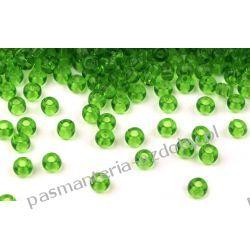 Koraliki szklane - PRECIOSA - rozmiar 6/0 -20g- zielony Szablony i maski