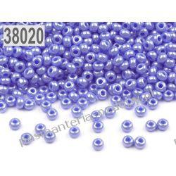 Koraliki szklane - PRECIOSA - rozmiar 10/0 -20g- perłowy liliowy Nici