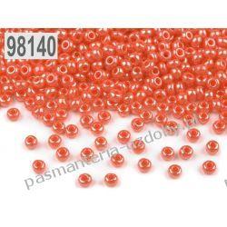 Koraliki szklane - PRECIOSA - rozmiar 10/0 -20g- perłowy ciemny łosiosiowy Szklane zwykłe
