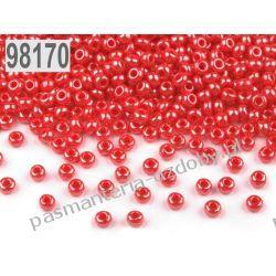 Koraliki szklane - PRECIOSA - rozmiar 10/0 -20g- perłowy czerwony Szklane zwykłe