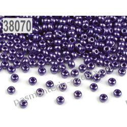 Koraliki szklane - PRECIOSA - rozmiar 10/0 -20g- perłowy śliwkowy Szklane zwykłe
