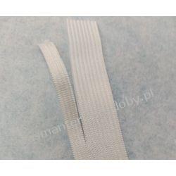 Guma gładka,   szer. 20mm(rozdziela się bez siepania - na maseczki)  biała 1m Szklane zwykłe
