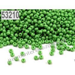 Koraliki szklane - PRECIOSA - rozmiar 11/0 -20g- zielony Szklane zwykłe