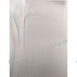 Guma gładka,   szer. 60mm(rozdziela się bez siepania - na maseczki)  biała 1m Akcesoria  krawieckie