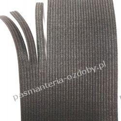 Guma gładka, szer. 60mm(rozdziela się bez siepania - na maseczki) czarna 1m Akcesoria  krawieckie