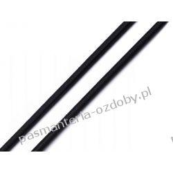 GUMA / GUMKA PŁASKA CZARNA 4 mm / 1m (maseczkowa, miękka) Włóczki