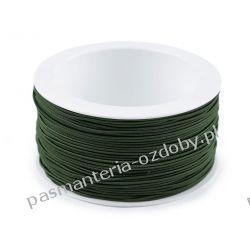 GUMA / GUMKA okrągła 1,2mm / 50m - ciemny zielony Szklane zwykłe