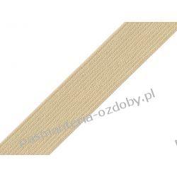 Guma gładka, szer. 20mm 1m - beżowa Druty, szydełka i czółenka