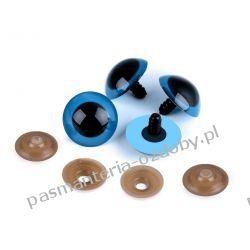 Bezpieczne oczy do zabawek z zatyczką Ø26 mm - niebieskie Pozostałe