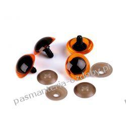 Bezpieczne oczy do zabawek z zatyczką Ø26 mm - pomarańczowe Pozostałe
