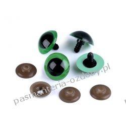 Bezpieczne oczy do zabawek z zatyczką Ø26 mm - zielone Pozostałe