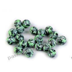 KORALIKI Fimo 8 mm - moro - zielony Rękodzieło