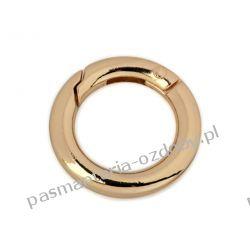 Karabińczyk metalowy okrągły Ø18 mm - kolor złoty Rękodzieło