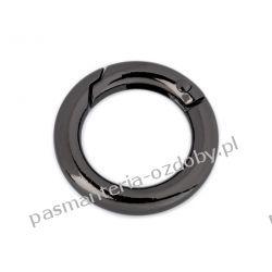 Karabińczyk metalowy okrągły Ø18 mm - kolor czarny Rękodzieło