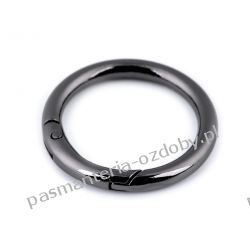 Karabińczyk metalowy okrągły Ø32 mm - kolor czarny Rękodzieło