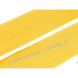 Guma gładka, tkana szer. 20mm - 1m - ciemny żółty Akcesoria  krawieckie