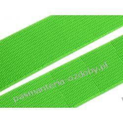 Guma gładka, tkana szer. 20mm - 1m - zielony neonowy Taśmy i tasiemki