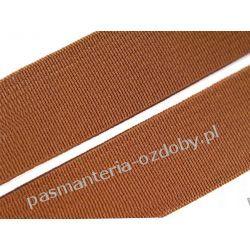 Guma gładka, tkana szer. 20mm - 1m - brązowy Akcesoria  krawieckie