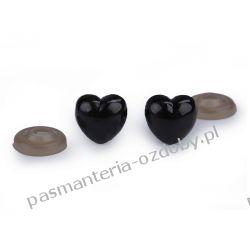 Bezpieczny nosek serce z zatyczką - czarny Włóczki