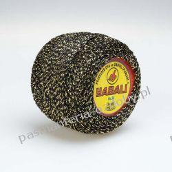 KORDONEK nici - Yabali - czarno-złoty Włóczki
