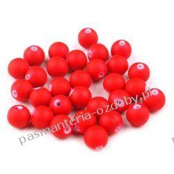 Koraliki plastikowe matowe Ø10 mm - czerwony