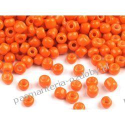 KORALIKI SZKLANE 2mm 20g-1700szt - pomarańcz Szklane zwykłe