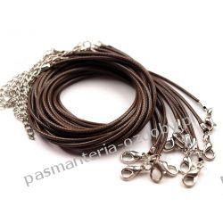 BAZA DO NASZYJNIKA sznurek powlekany 45cm - brązowy Włóczki