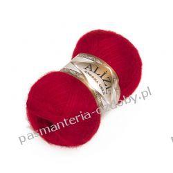 Włóczka Alize Angora Gold - 100g - czerwony (106) Koraliki i cekiny