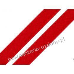 Taśma - wypustka bawełniana 12mm - czerwony Rękodzieło