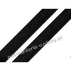 Taśma - wypustka bawełniana 12mm - czarny Rękodzieło