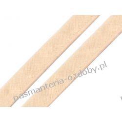 Taśma - wypustka bawełniana 12mm - brzoskwiniowy Rękodzieło