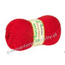 Włóczka Mimoza Metalic - 100g - czerwony (kol. 62) Rękodzieło