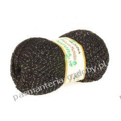 Włóczka Mimoza Metalic - 100g - czarny + złoty Rękodzieło