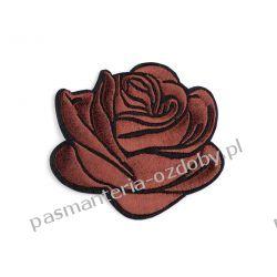 Naprasowanka róża - brąz Przedmioty do ozdabiania