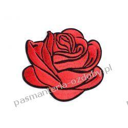 Naprasowanka róża - czerwień Druty, szydełka i czółenka
