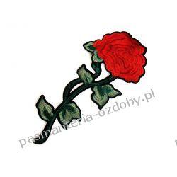 Naprasowanka duża róża - 12x29 cm Szycie i dziewiarstwo