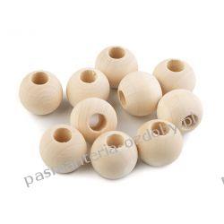 Koraliki drewniane nielakierowane Ø20 mm - duży otwór Rękodzieło